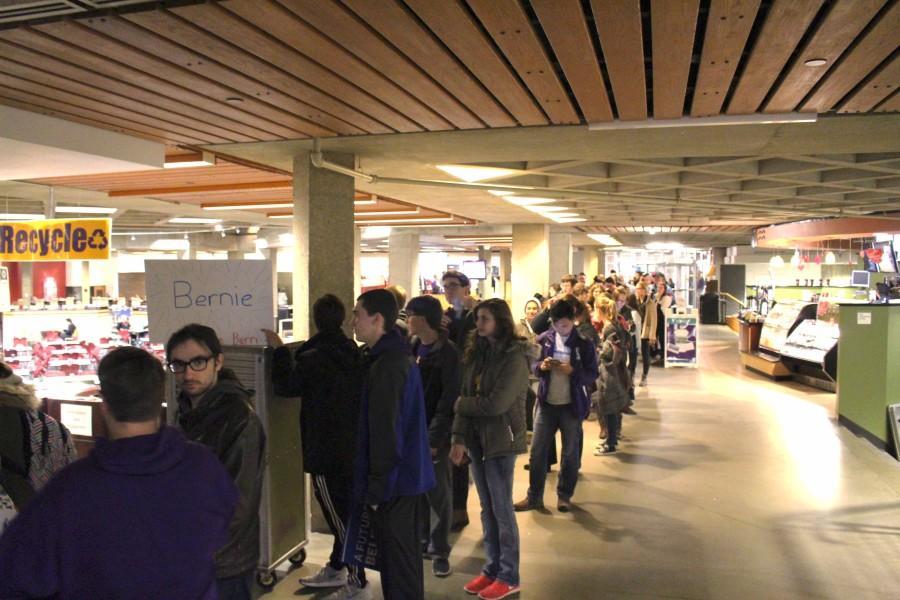 Caucusing around campus: Democratic