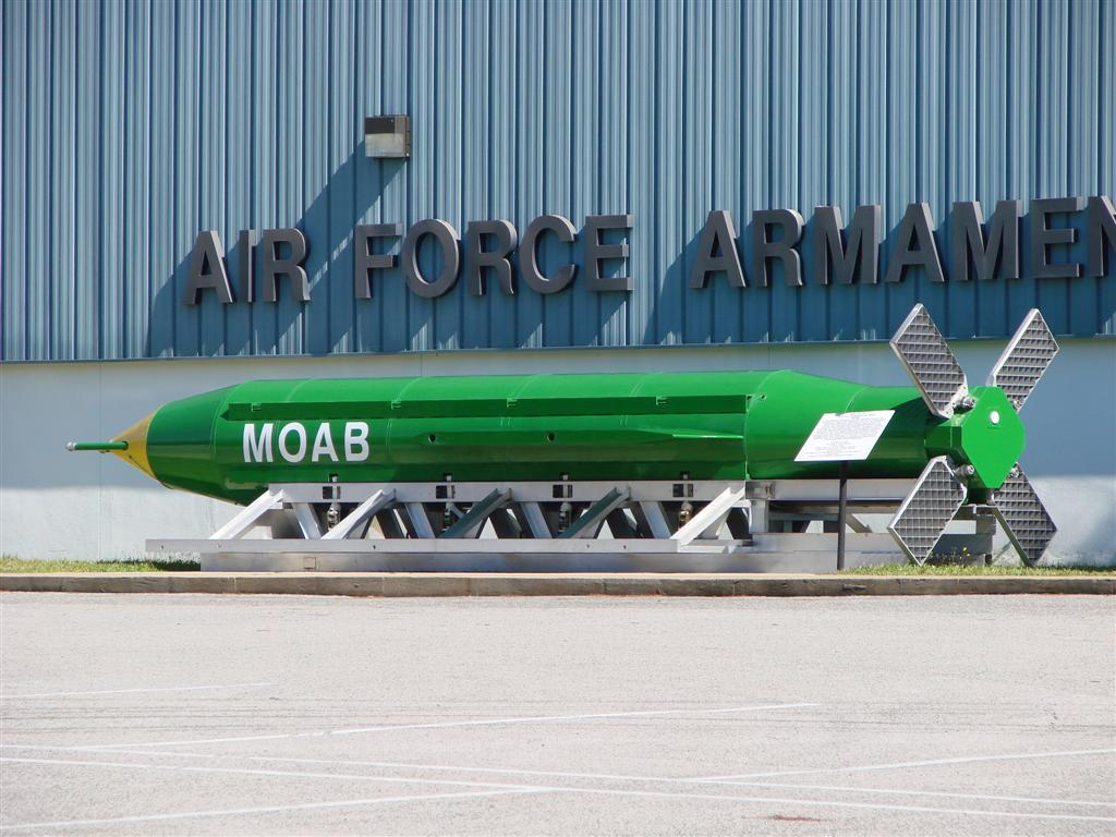 The United States dropped the most powerful conventional bomb in the American arsenal on April 13 according to the New York Times. The strike was the first combat use of the GBU-43/B Massive Ordinance Air Blast (MOAB). The MOAB is also commonly referred to as the