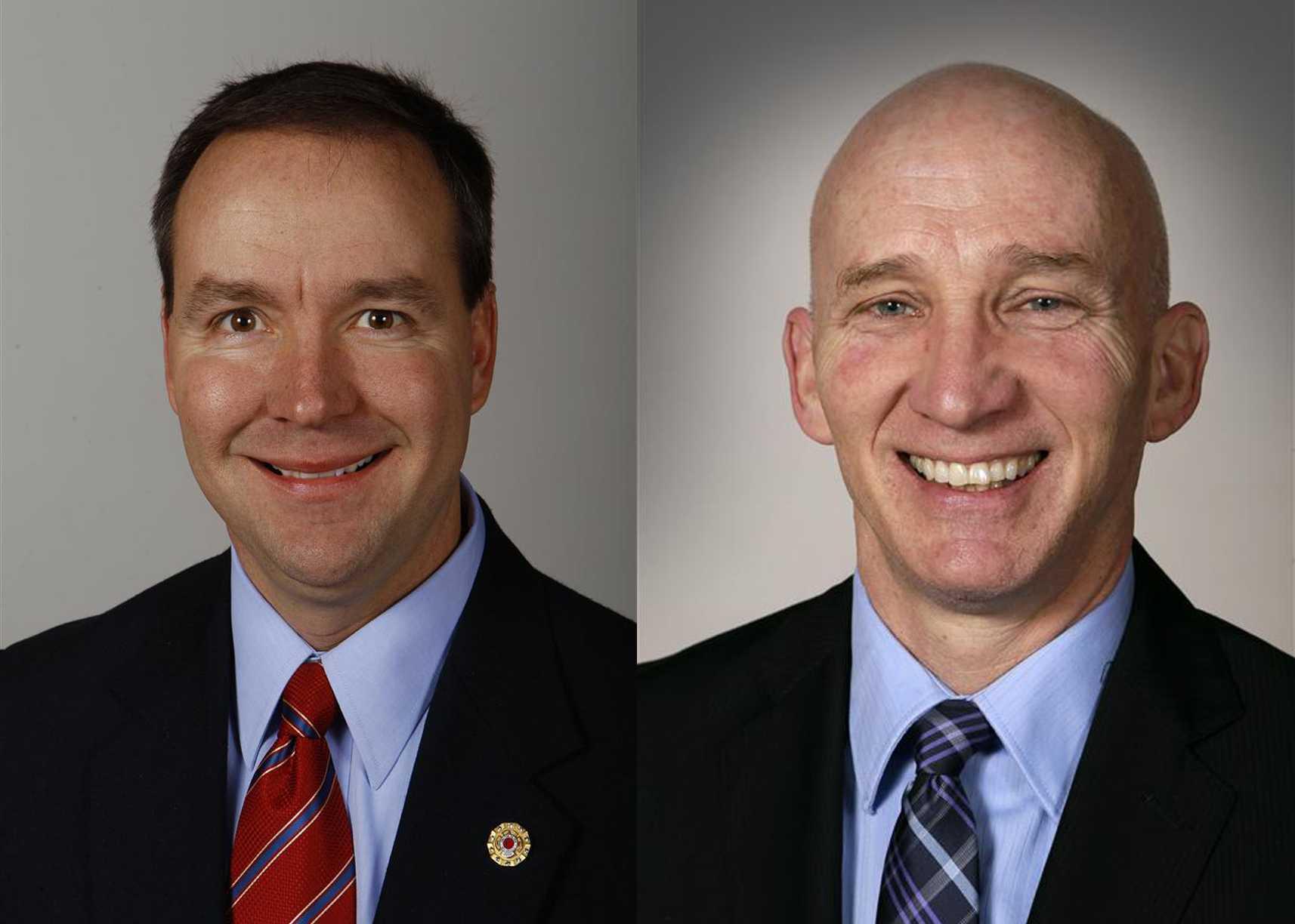 Jeff Danielson (left), Democratic State Senator  Walt Rogers (right), Republican State Representative