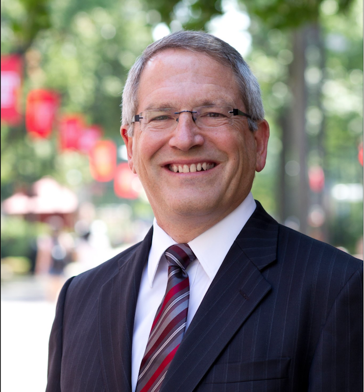 Neil Theobald, former Temple University president, was the first finalist announced in the running to become UNIs 11th president.