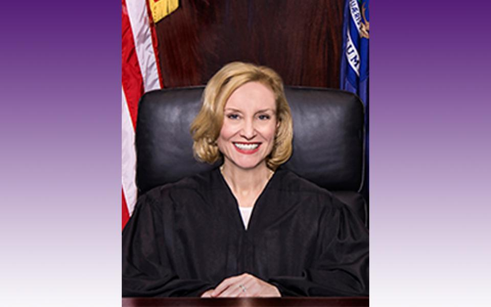 Justice Joan Larsen graduated from UNI in 1990 with BAs in political science and Spanish.