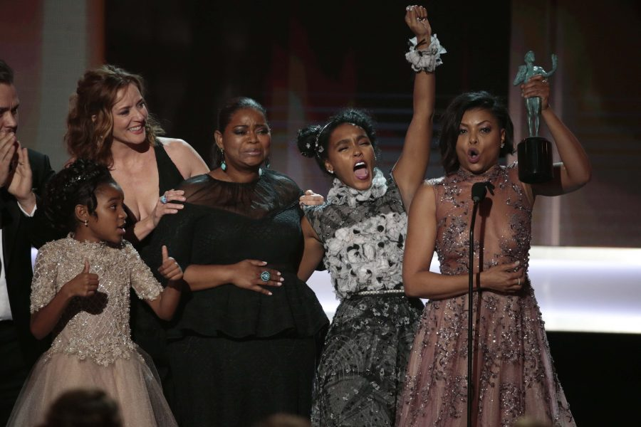 The+cast+of+%22Hidden+Figures%22+received+this+year%27s+Screen+Actors+Guild+Award+for+Outstanding+Performance+by+a+Cast+in+a+Motion+Picture.+%22Hidden+Figures%22+currently+boasts+a+92+percent+approval+rating+on+Rotten+Tomatoes