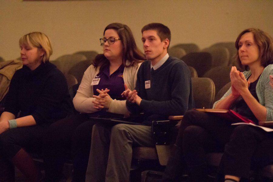 NISG members Maggie Miller (left) and Hunter Flesch (right) pictured above. NISG has issued a unanimous statement in support of United Faculty.