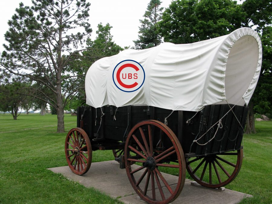 The Chicago bandwagon heads out to its first midwest location: the University of Northern Iowa. Ecstatic students piled on for the ride.