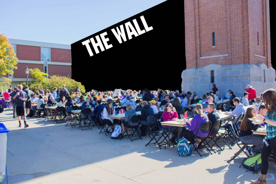 According to sources within in Gnook's administration, the wall is expected to occupy the area of UNI's campus immediately south of the Campanile.