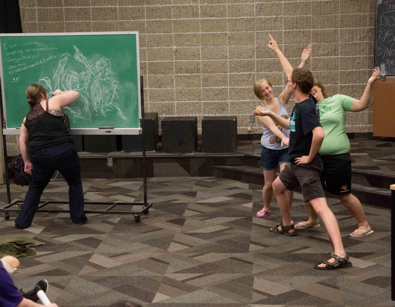 Students gathered in the Communication Arts Center to take part in a