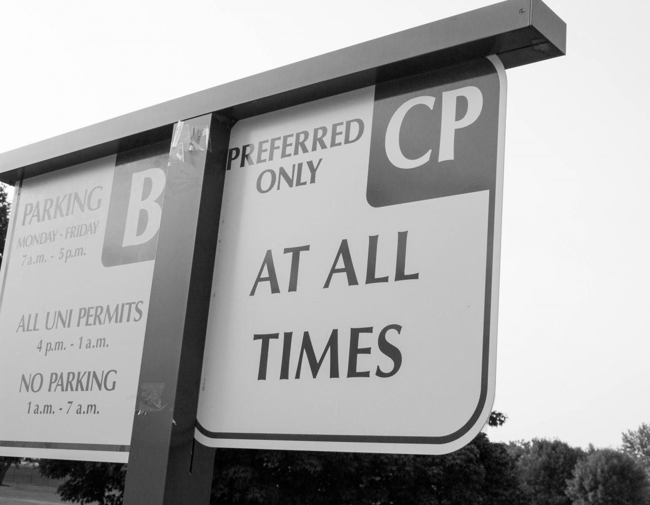 CP+Parking+spaces+on+the+north+side+of+campus+have+become+scarce+since+the+reopening+of+Lawther+Hall.