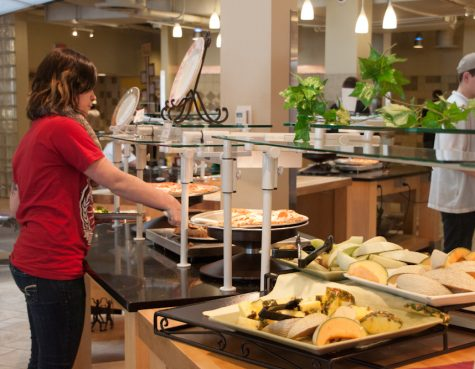 Eating healthy at the dining centers