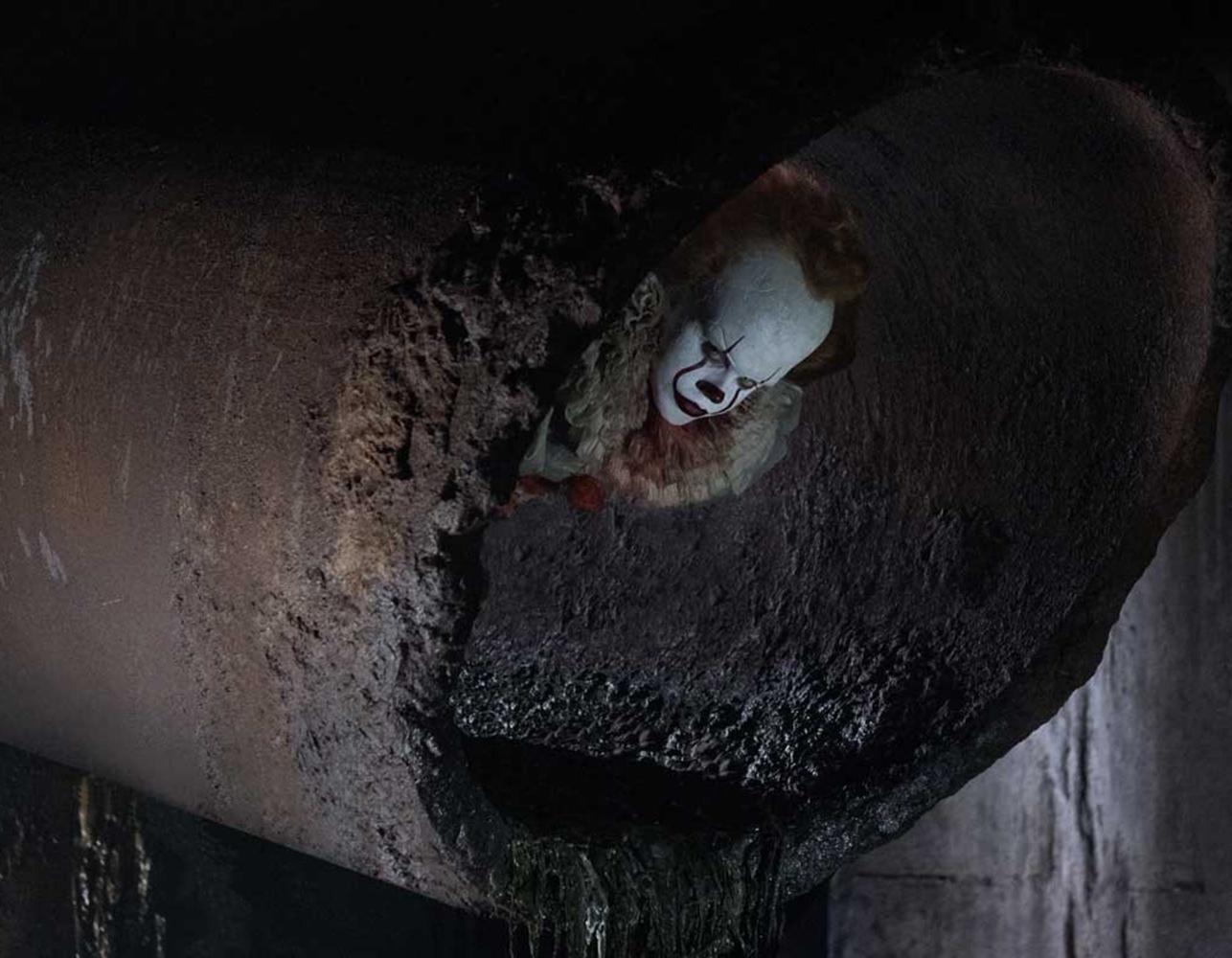 Bill Skarsgard stars as Pennywise the Dancing Clown in