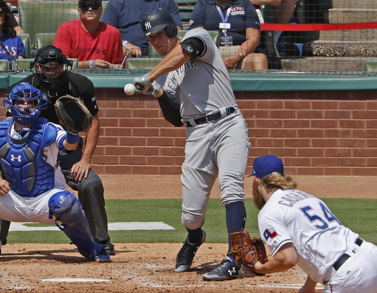 Aaron Judge has hit 45 home runs in his rookie season with the New York Yankees.
