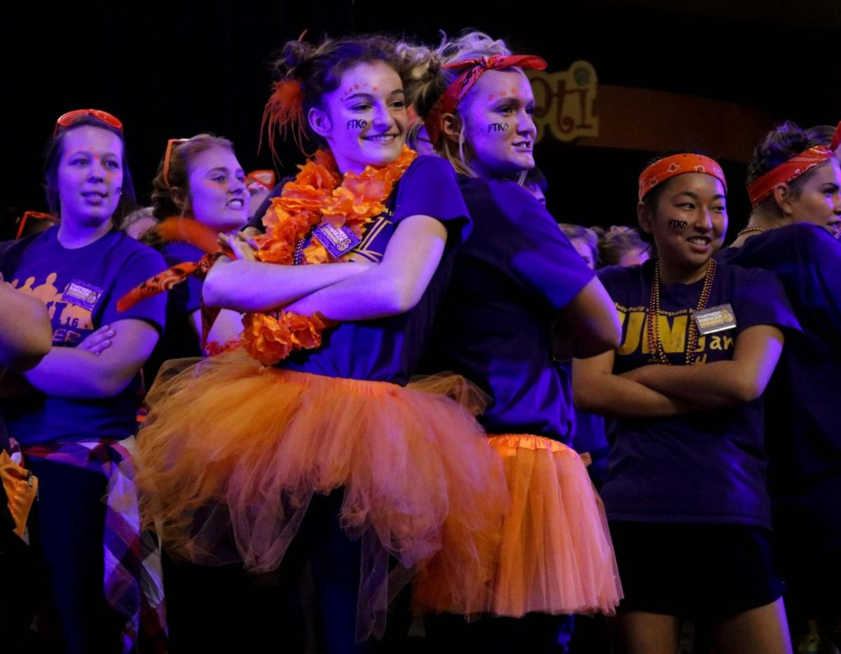 This+Monday%2C+Oct.+2%2C+the+Homecoming+Kick-Off+was+held+in+the+Maucker+Union.+Twelve+teams+competed+in+UNI%27s+annual+Pride+Cry+competition.