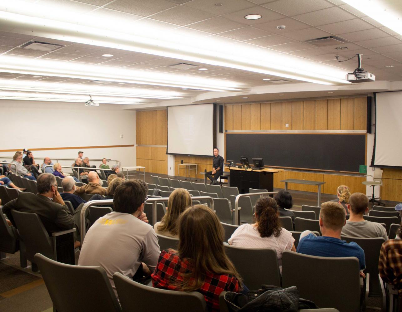 UNI alumnus Nick Schrunk had a screening of the documentary