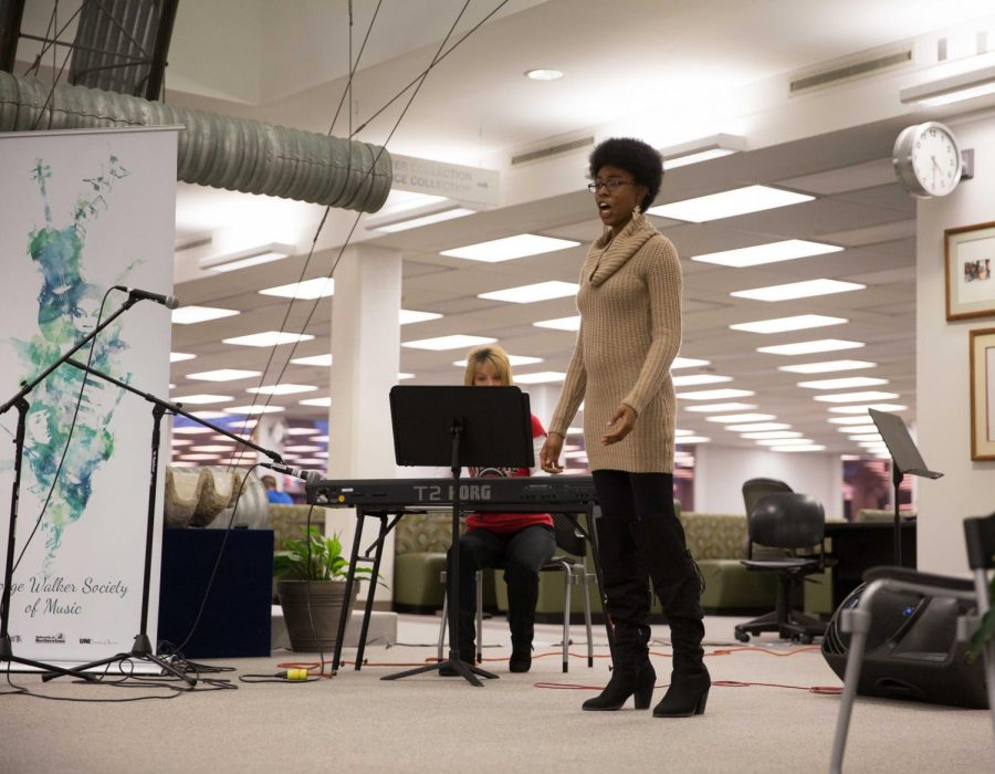 There was a centennial celebration held for Ella Fitzgerald and Thelonious Monk by the George Walker Society of Music in Rod Library. UNI students performed jazz pieces from Fitzgerald and Monk, along with original work.