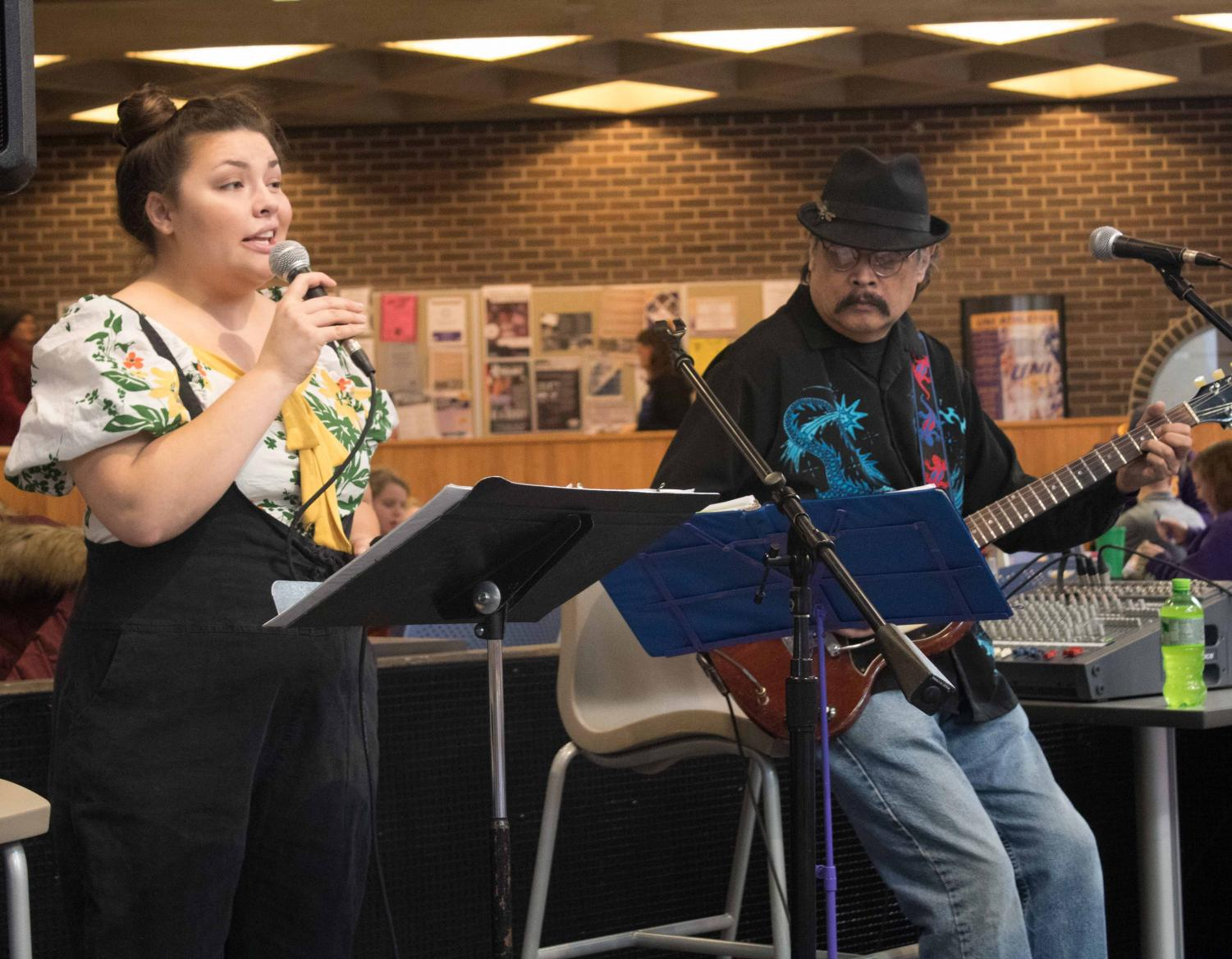 Amelia and Vince Gotera are a father-daughter duo who performed from 12 p.m. to 1 p.m. on Wednesday, Nov. 15, during Maucker Union Live.