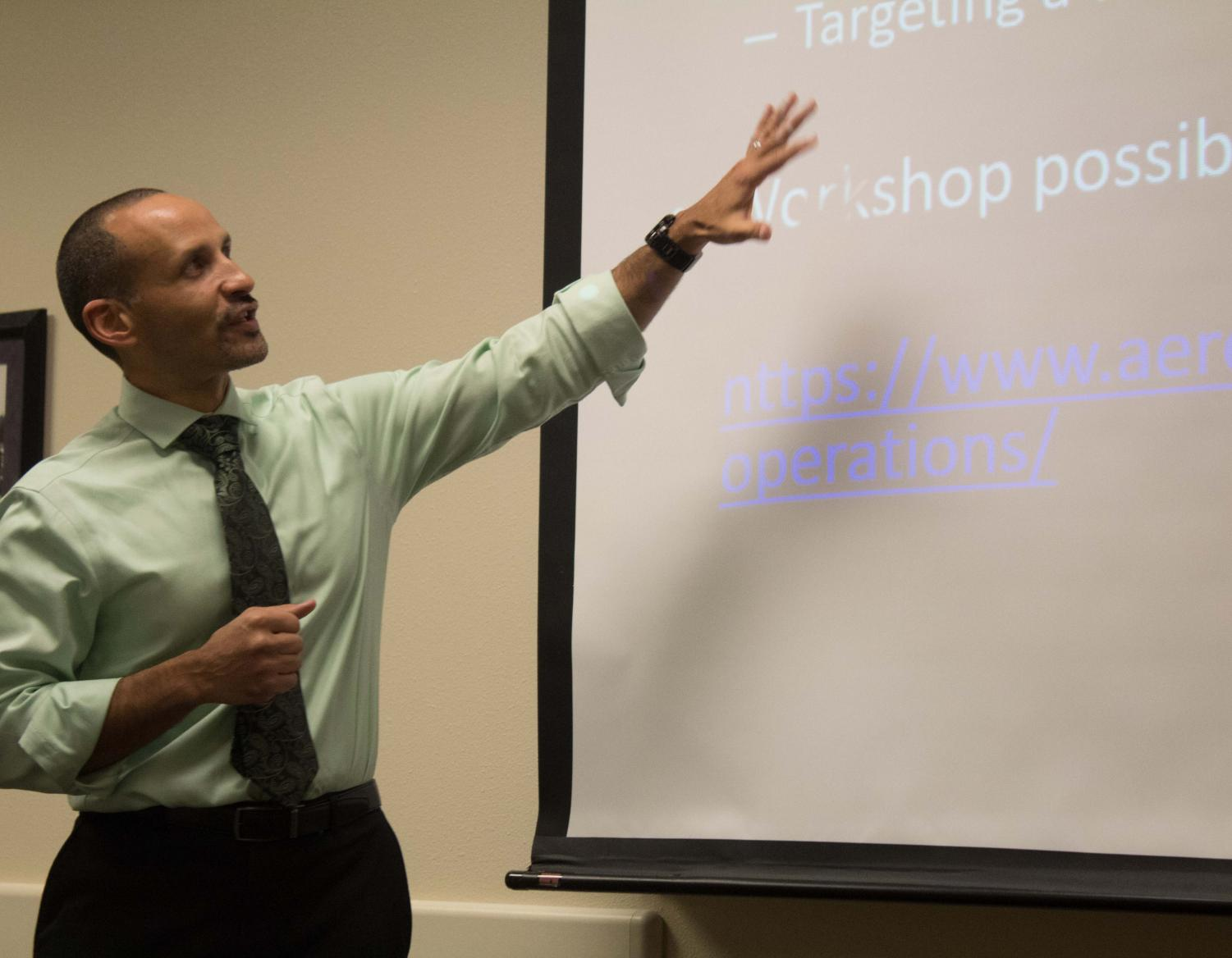 Tomas Gonzolaz-Torres is a former NASA employee and current Iowa State University professor and assistant director for the ISGC (Iowa Space Grant Consortium). He spoke on Nov. 28 about NASA internship opportunities.