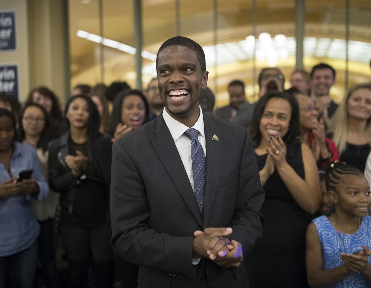 Opinion columnist Abbi Cobb recaps Tuesday's state and local election results, which saw many Democratic candidates come out on top in elections at every level across the country. Pictured above is Melvin Carter, who became the first black mayor of St. Paul, Minnesota on Tuesday.