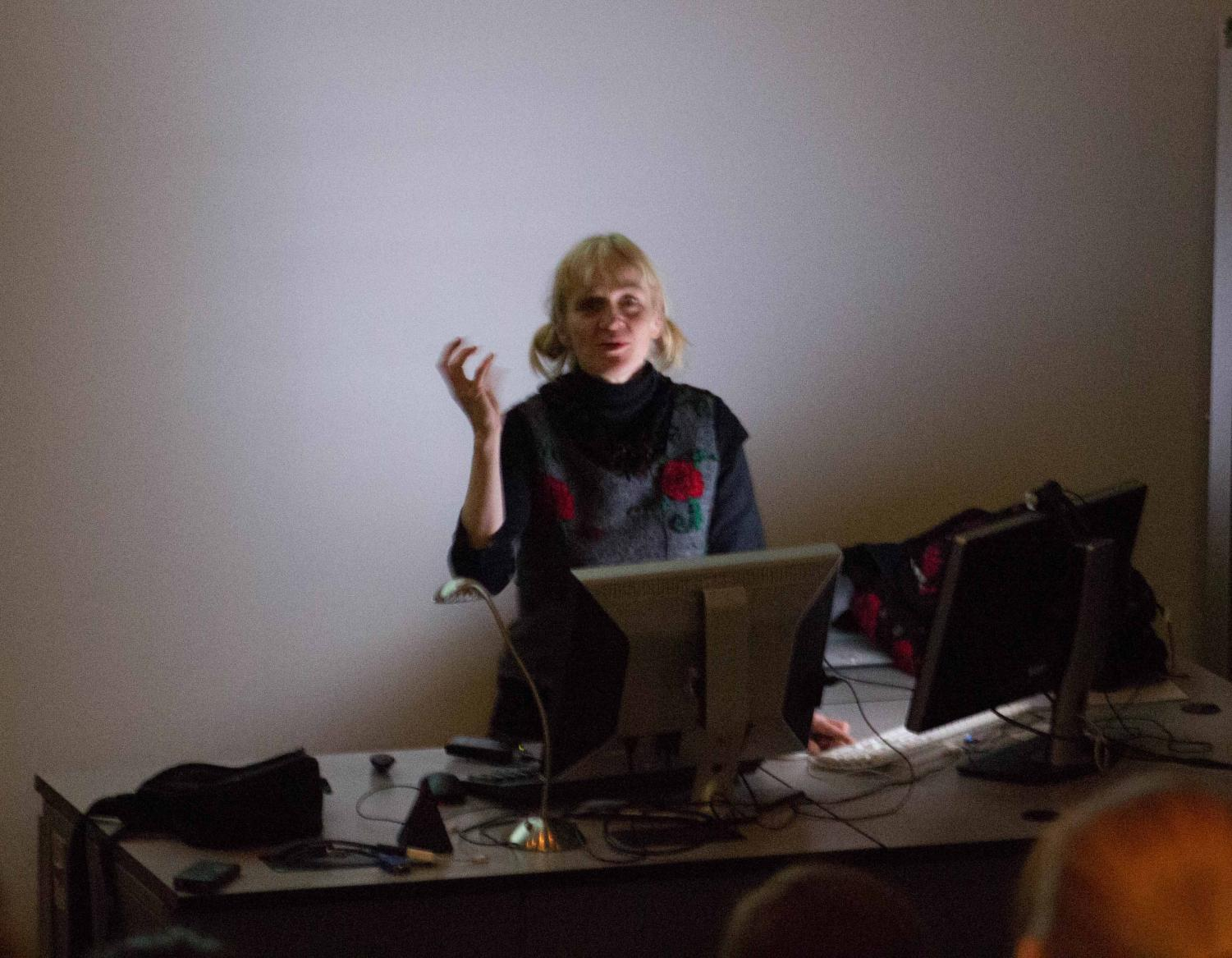 Gerit Grimm is a ceramist artist from the University of Wisconsin-Madison and assistant art professor. She visited UNI Jan. 25 to lecture about her art.