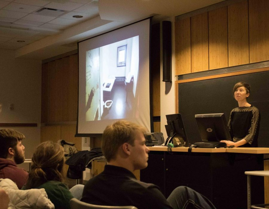 Philosopher and activist Lisa Guenther came to UNI this past week to discuss issues related to solitary confinement and the U.S. prison system.