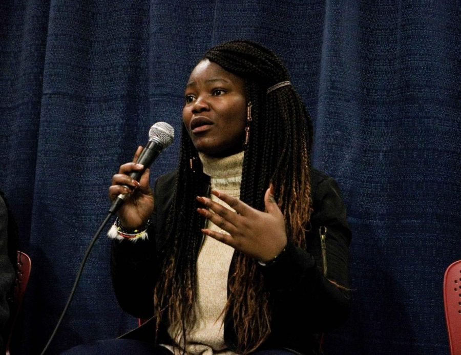 Tulia Mulibinge is the African Union president and was one of the six panelists speaking during
