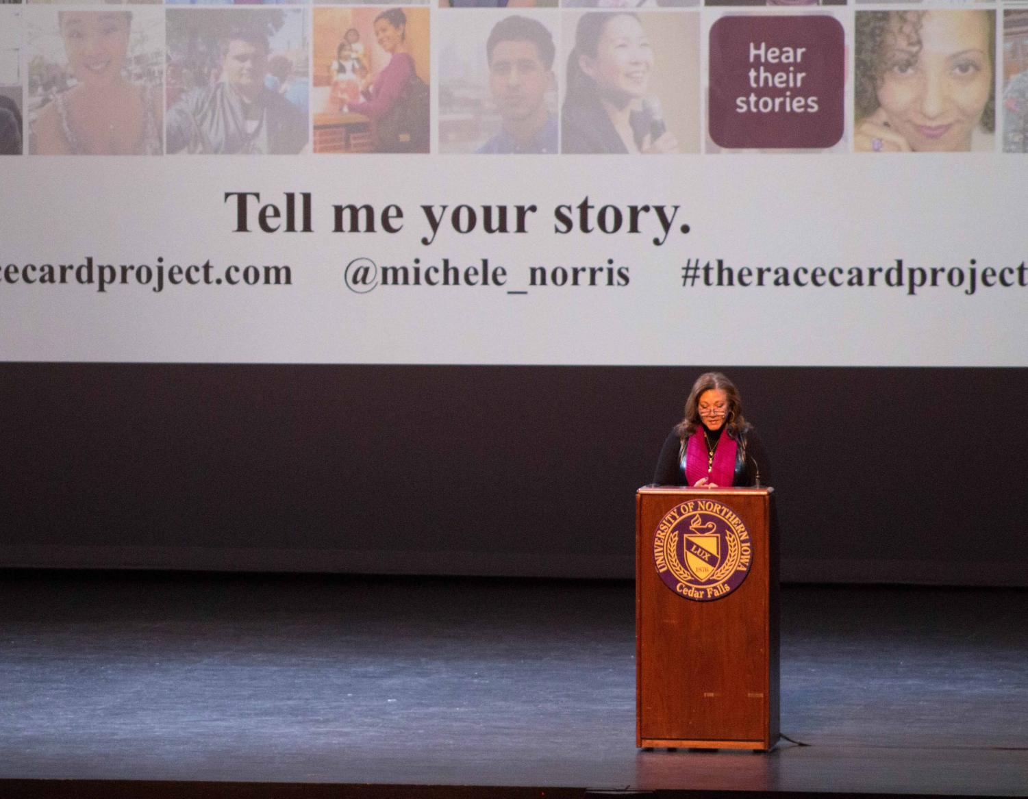 Michele Norris, an NPR journalist and author, gave a presentation called the