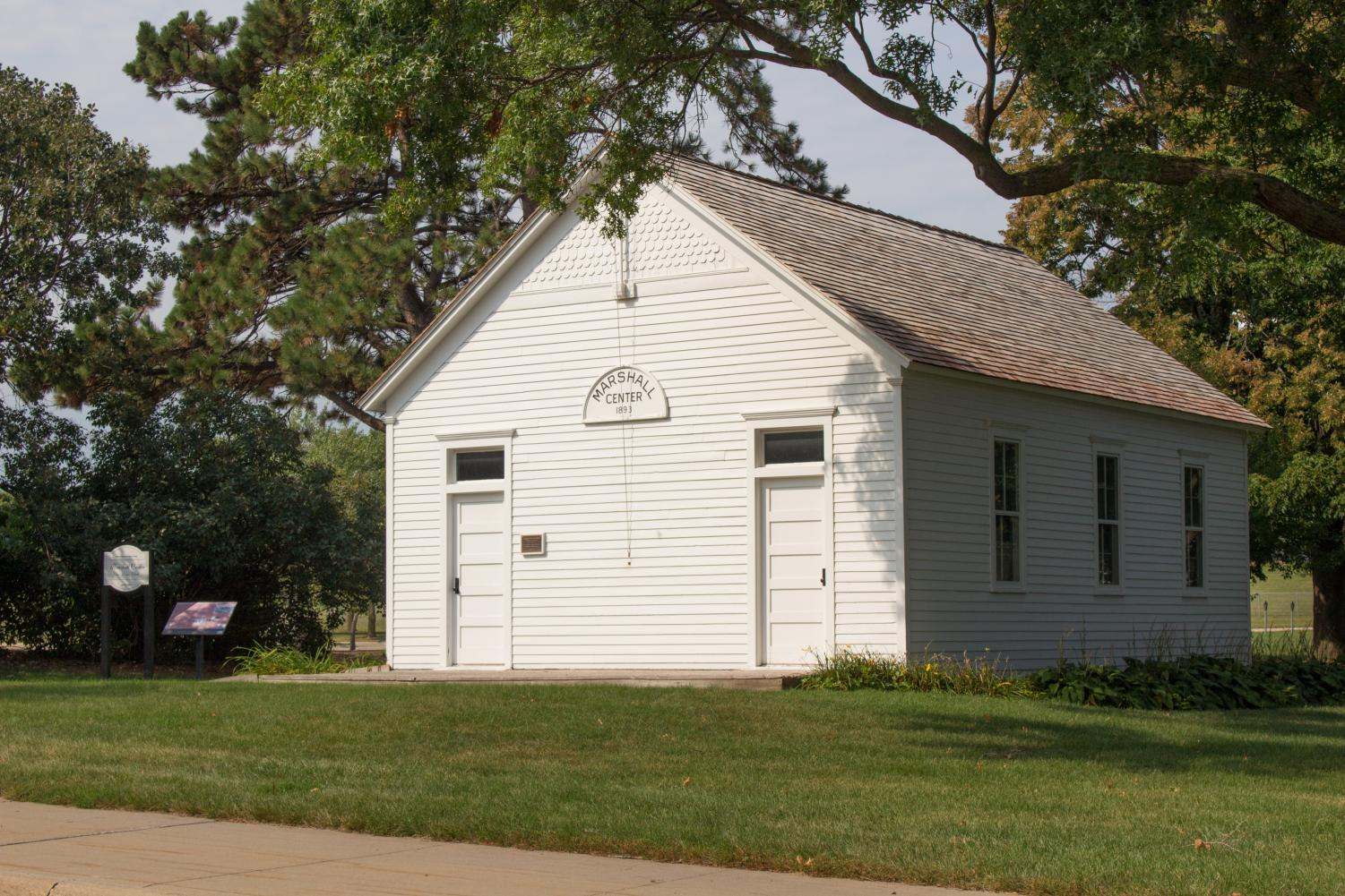 UNI's one-room schoolhouse is located behind the Student Health Center and plays host to different events throughout the year.