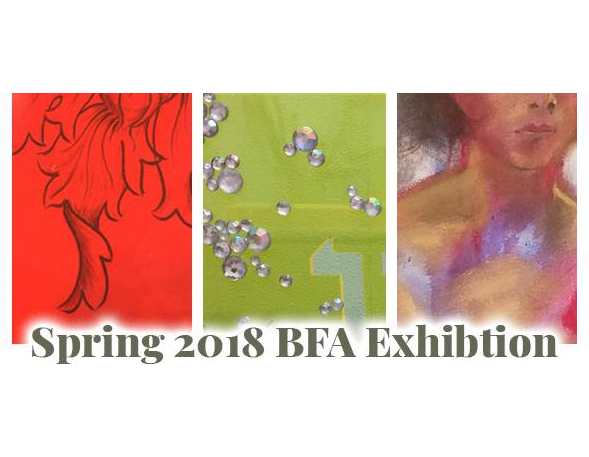 This year's Bachelor of Fine Arts group exhibition is being revealed Monday, April 23. It opens with a reception at 7 p.m.