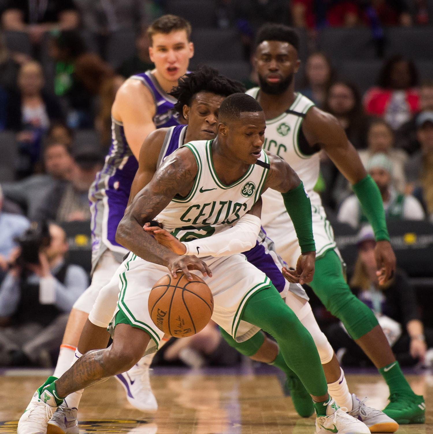 With the help of Terry Rozier (12), Jaylen Brown, and Jayson Tatum, the Boston Celtics lead the Milwaukee Bucks 2-0 in the first round.