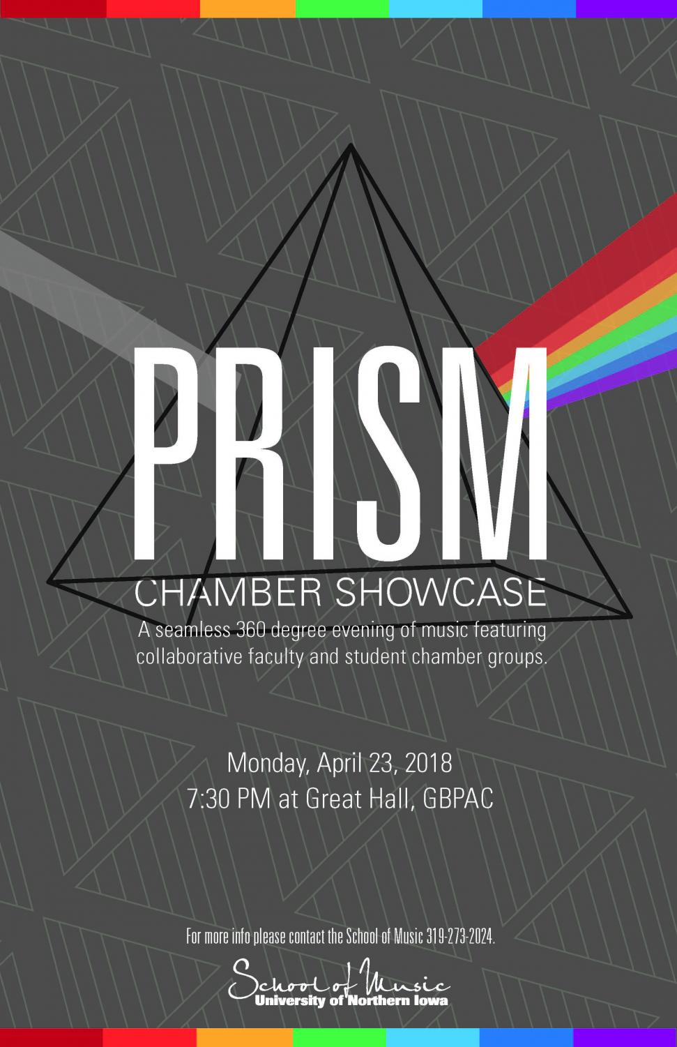 The UNI School of Music is presenting their second PRISM Showcase which displays collaboration between students and faculty.