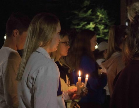 Students gather for candlelight vigil