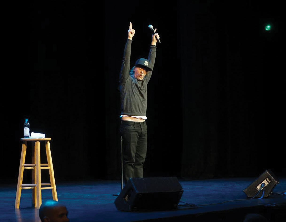 Comedian David Spade performed at the Gallagher Bluedorn Performing Arts Center on Sept. 22, kicking off the Fall 2018 Artist Series.