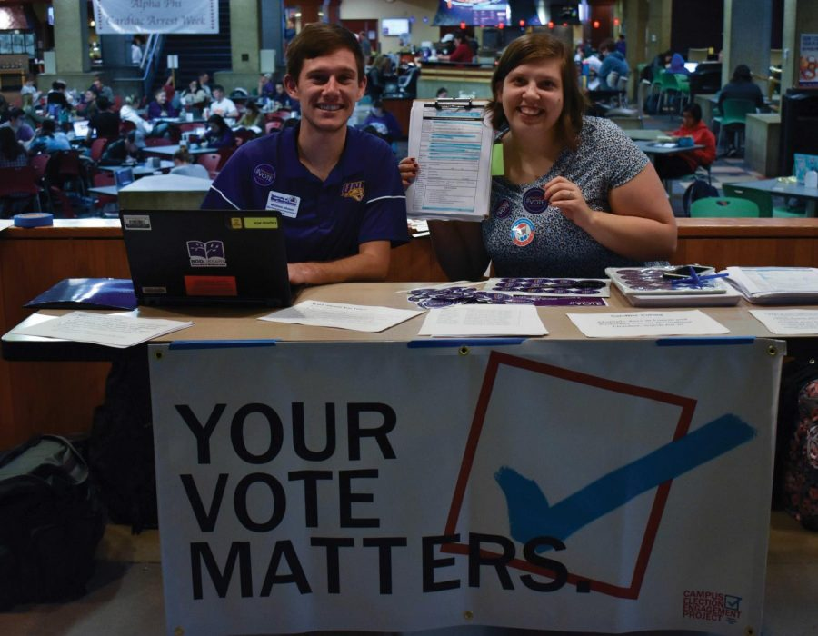Student+organizations%2C+academic+departments+and+NISG+collaborated+to+organize+the+%23PanthersVote+initiative.+During+their+kickoff+even+on+Sept.+24%2C+students+were+encouraged+to+register+to+vote.