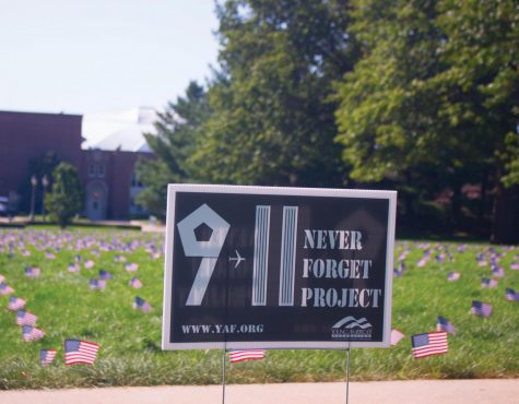 YAF plants flags for 9/11 memorial