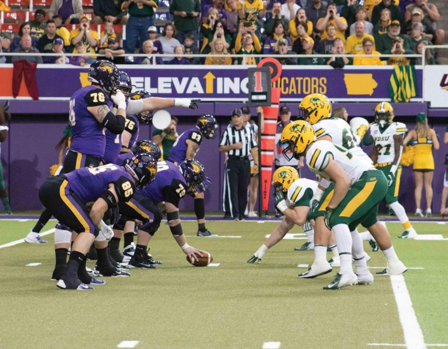 The+UNI+offense+was+able+to+quickly+jump+onto+the+scoreboard+in+the+first+quarter+14-0%2C+but+the+North+Dakota+State+running+game+was+too+strong+down+the+stretch+as+the+reigning+national+champions+cruised+in+the+fourth+quarter+to+a+25+point+win+Saturday+in+the+UNI+Dome.