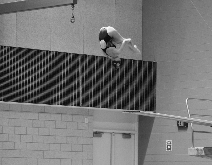 Sophomore diver Jayden Lovell took home fourth in the one meter springboard and third in the three meter contest against Nebraska-Omaha. She also took fourth in the one meter competition at Nebraska.