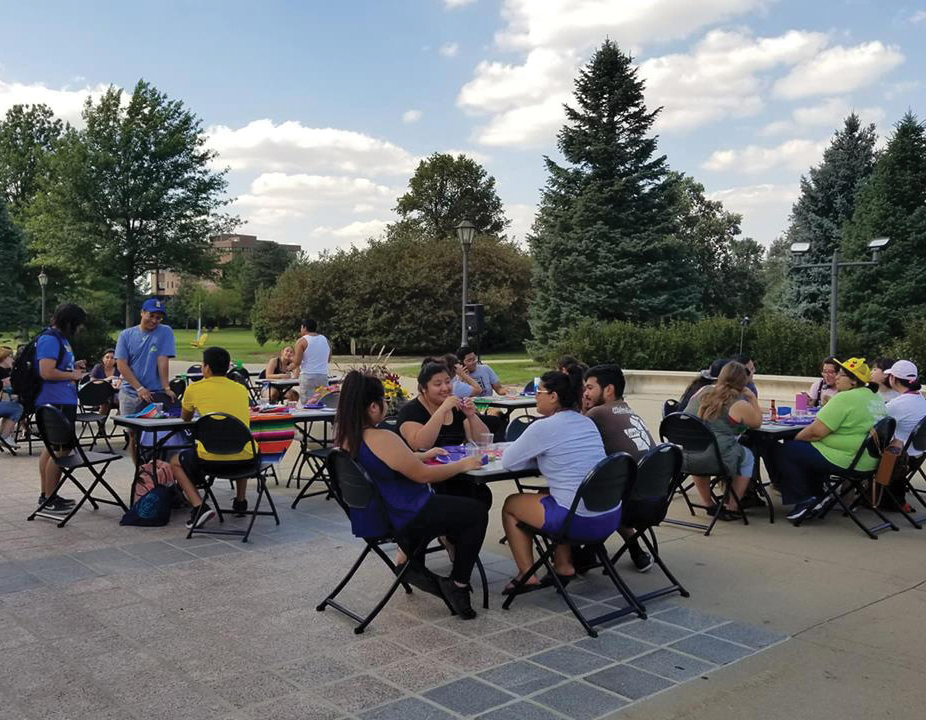 UNIdos, Lambda Theta Phi, Lambda Theta Alpha and the CME launched their celebration of Latinx Heritage Month with a Carne Asada kickoff.