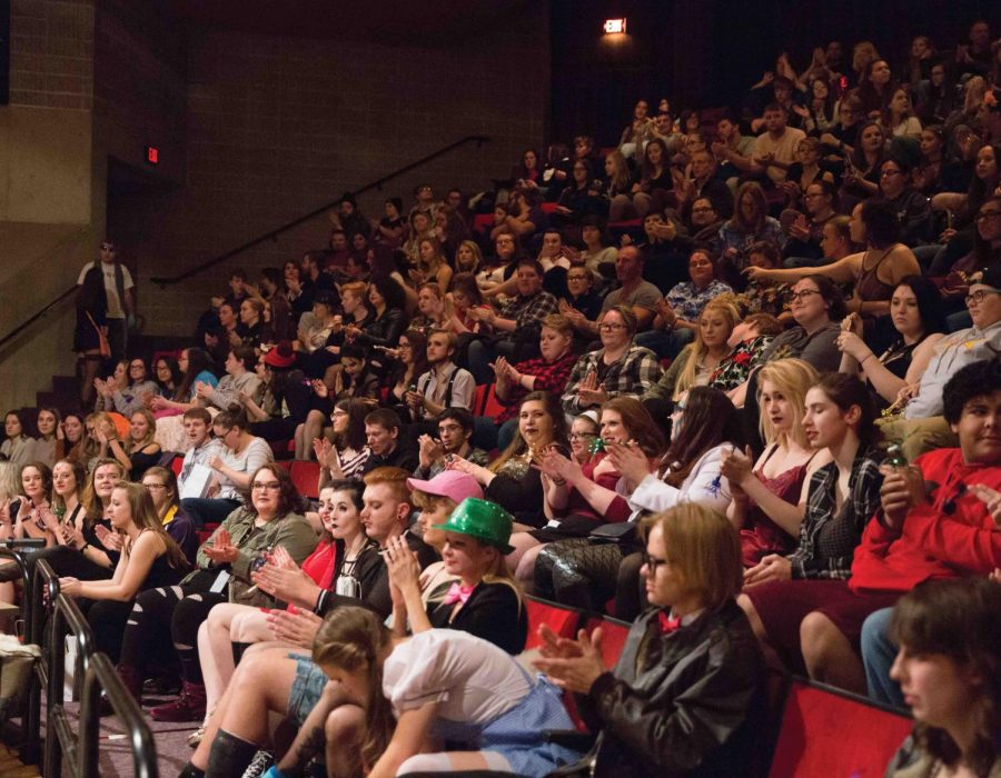 Students+flocked+to+Strayer-Wood+Theatre+on+Friday%2C+Nov.+2+for+a+showing+of+%22The+Rocky+Horror+Picture+Show.%22