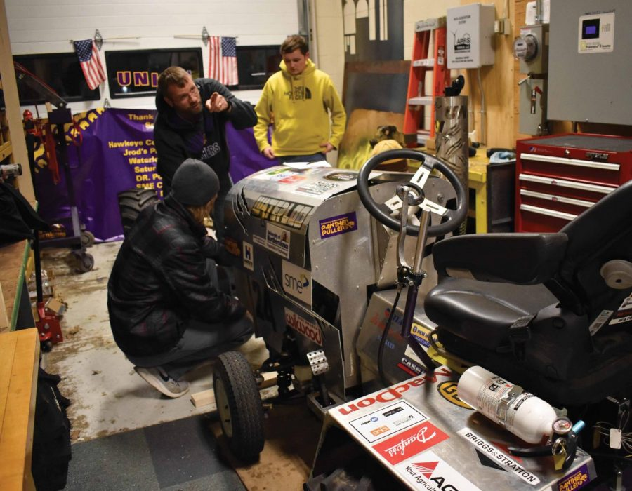Students in UNI's SME chapter are designing a tractor that will be entered in the International 1/4 Scale Tractor Competition next summer.