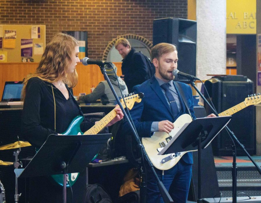 Music class performs as 'The Mod Squad'