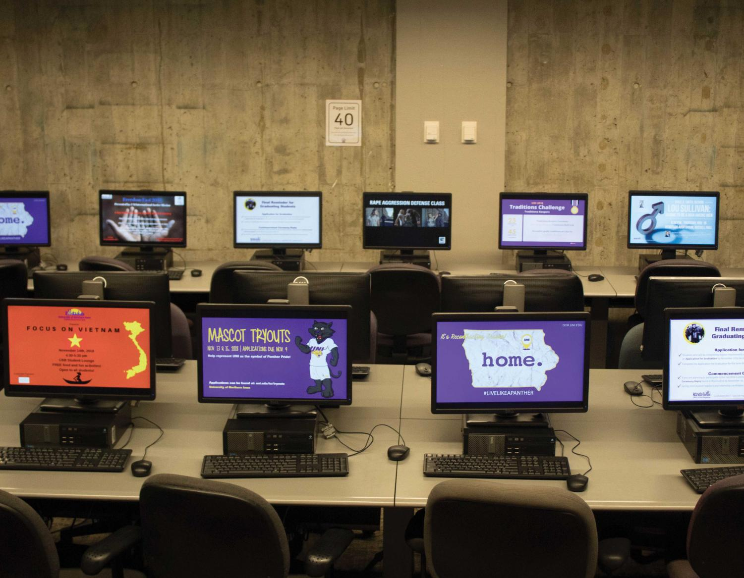 Due to declining student use, the university is considering renovating computer labs across campus.