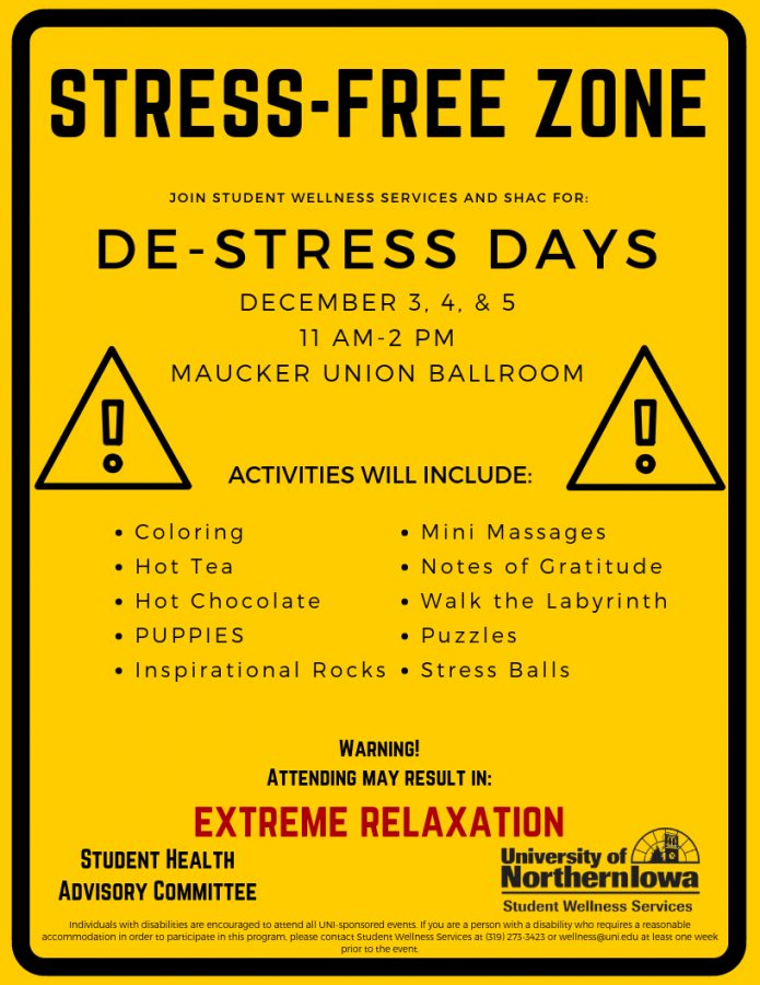 UNI+to+hold+De-Stress+Days+for+%22dead+week%22