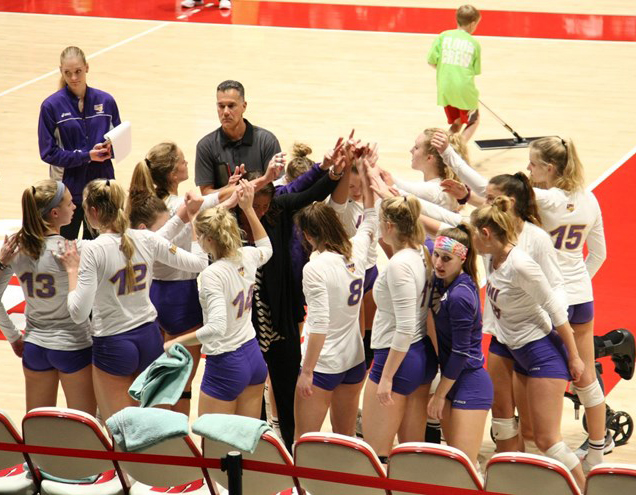 The+UNI+volleyball+team+won+their+first+Missouri+Valley+Conference+tournament+title+since+2011+and+made+their+fourth+straight+appearance+in+the+NCAA+tournament+on+Thursday+night+in+Madison+against+Pepperdine.
