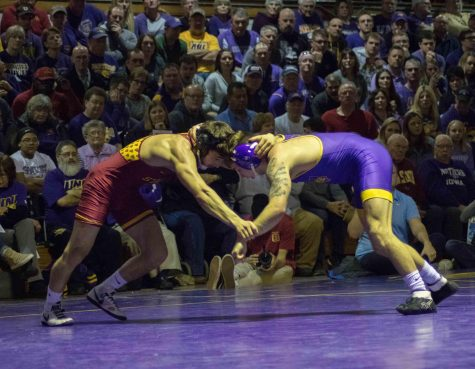 Wrestlers defeat Iowa State for third straight time
