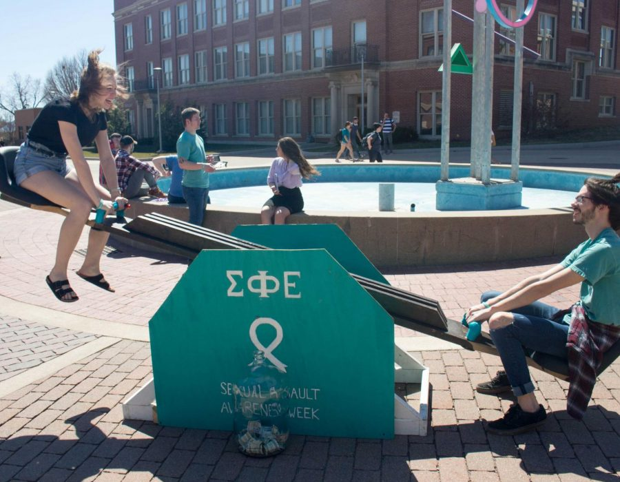 Sigma+Phi+Epsilon+launched+off+their+annual+Sexual+Assault+Awareness+Week+%28SAAW%29+with+a+24-hour+See-SAAW+event+outside+Maucker+Union+from+April+8+to+April+9.