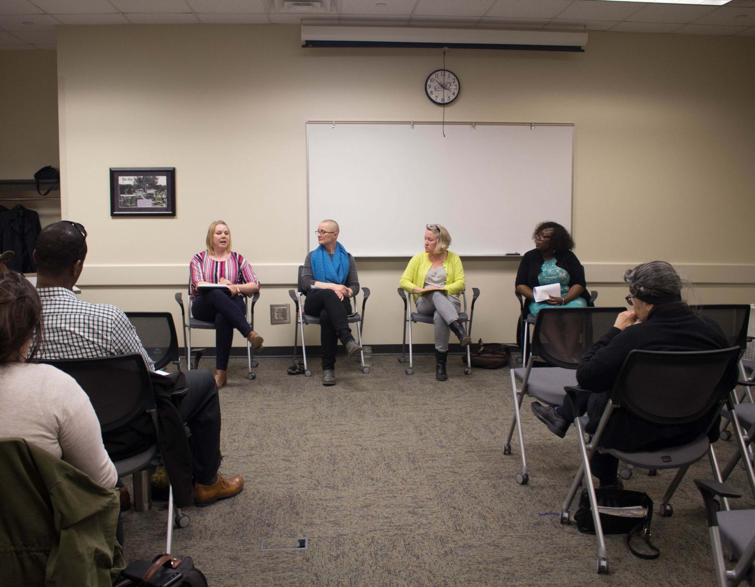 Four UNI professors hosted Classroom Conversations on Race: A Panel Discussion, an event that was held in the Elm Room of Maucker Union on Thursday, March 28.