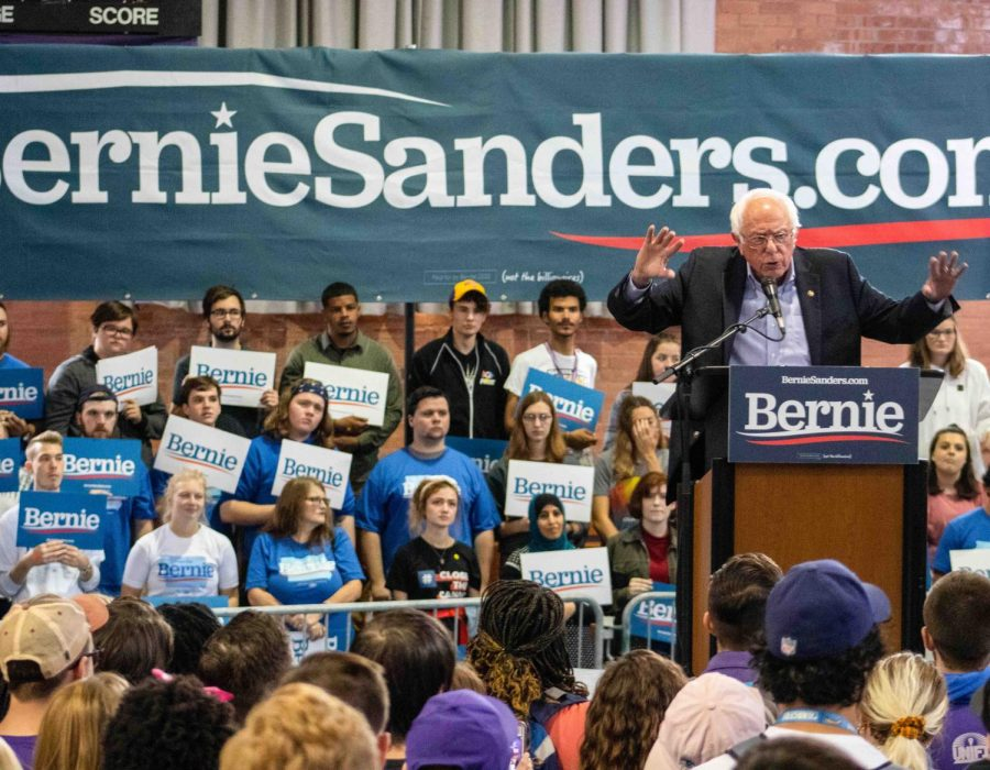 Bernie Sanders rallies in West Gym