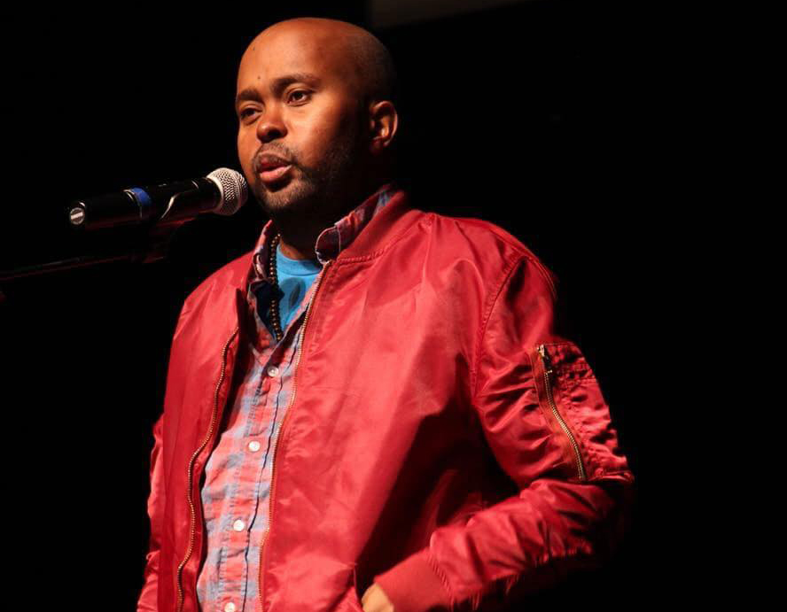 Spoken+word+poet%2C+activist+and+writer+Donney+Rose+shared+poetry+and+addressed+racial+inequality+at+UNI+Interpreters+Theatre+on+Friday%2C+Oct.+4.+