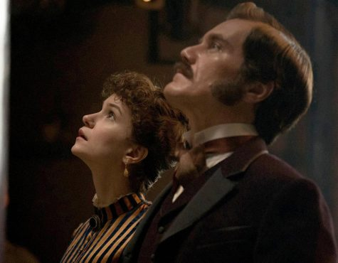 Benedict Cumberbatch (other attached picture) stars as Thomas Edison and Michael Shannon (right) as George Westinghouse in historical drama