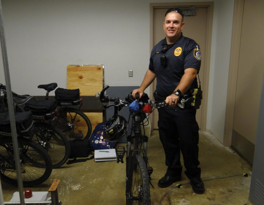 Shifting gears: UNI bike patrol officer changes routine