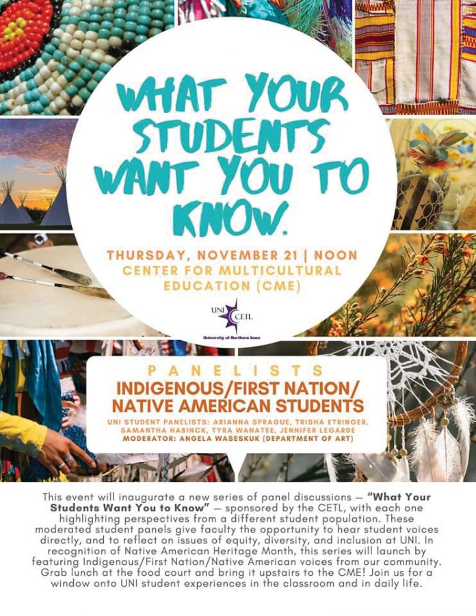 The+Center+for+Excellence+in+Teaching+and+Learning+will+host+the+first+panel+of+a+new+series+called+%22What+Your+Students+Want+You+to+Know%22+at+noon+on+Thursday%2C+Nov.+21+in+the+Center+for+Multicultural+Education.