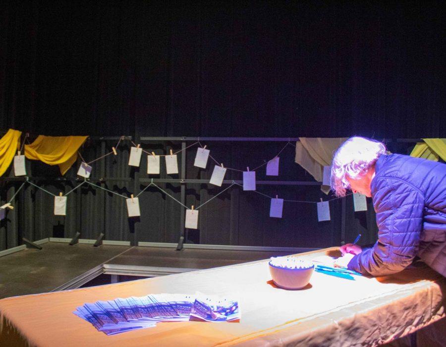 After each show, audience members were invited to write their own letters to be added to a display in the corner of the Interpreters Theatre.